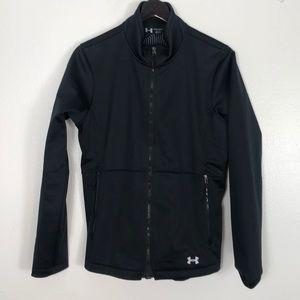Under armor black jacket zip up size large